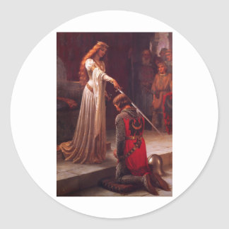 Accolade - Edmund Blair Leighton (1901) Classic Round Sticker
