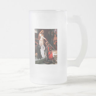 Accolade - Poodle (TWO Standard) Frosted Glass Beer Mug