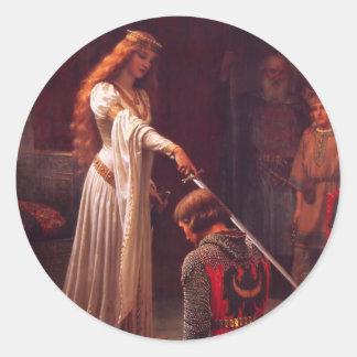 Accolade - The Knight Classic Round Sticker