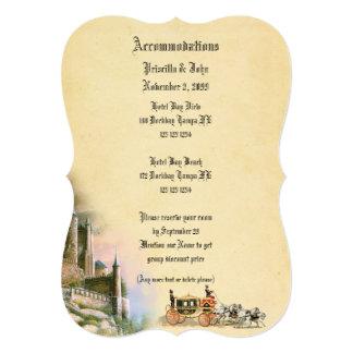 Accommodation card, Fairytale, editable Card