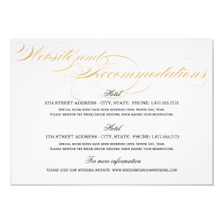 Accommodations Card - Gold & Black