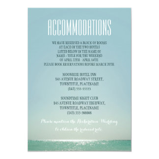 accommodations for beach weddings card