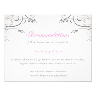 Accommodations for Janet Personalized Invitations
