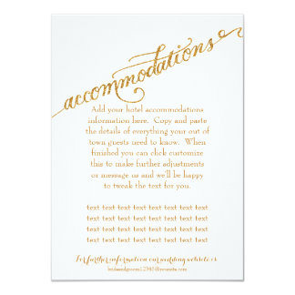 Accommodations Script Forever in Love Gold Glitter Card