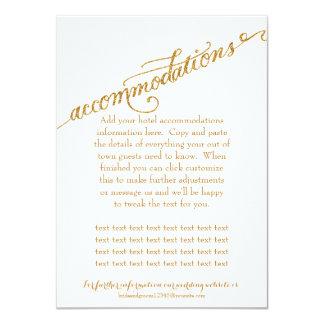 Accommodations Script Forever in Love Gold Glitter 4.5x6.25 Paper Invitation Card
