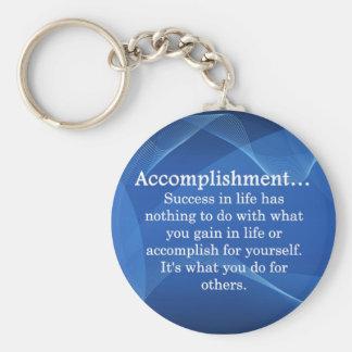 Accomplish Basic Round Button Keychain
