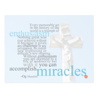 Accomplish Miracles Postcard