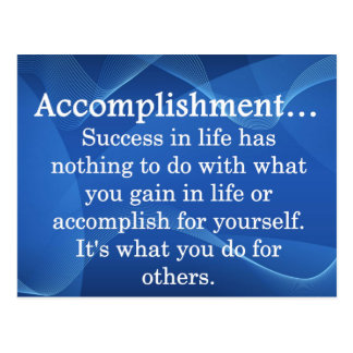 Accomplish Postcard