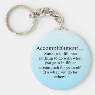 Accomplishment Basic Round Button Keychain