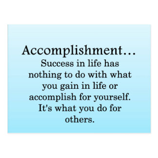 Accomplishment Postcard