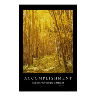 Accomplishment Poster