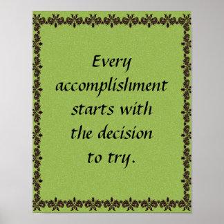"""Accomplishment"" Poster Poster"