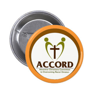 Accord Logo with tan background Pinback Button
