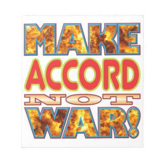 Accord Make X Scratch Pad