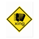 Accordian Crossing Xing Traffic Sign Postcards