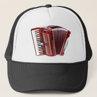 ACCORDIAN MUSICAL INSTRUMENT TRUCKER HAT