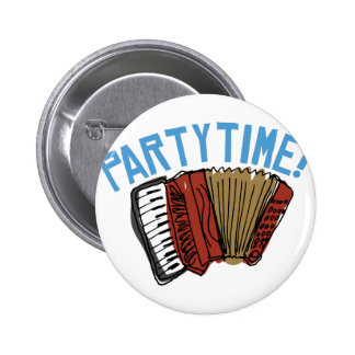 Accordian Party Time Pinback Button