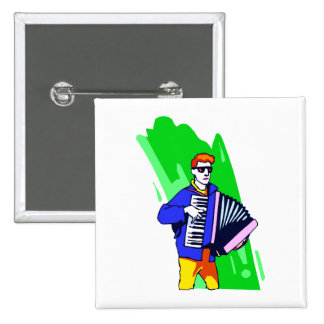 Accordian Player Blue Suit Graphic Pin