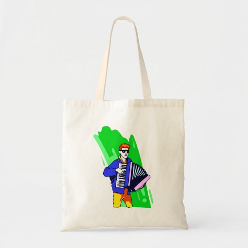 Accordian Player Blue Suit Graphic Tote Bag
