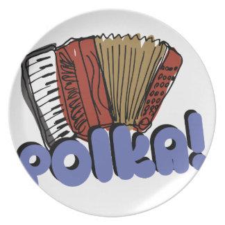 Accordian Polka! Melamine Plate