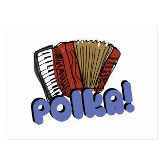 Accordian Polka! Postcard