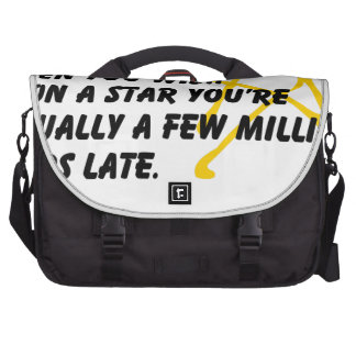 According to Astronomy Laptop Messenger Bag