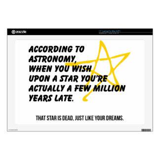 "According to Astronomy 17"" Laptop Decals"