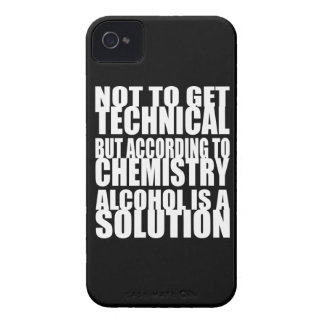 According to Chemistry Alcohol is a Solution iPhone 4 Case-Mate Case