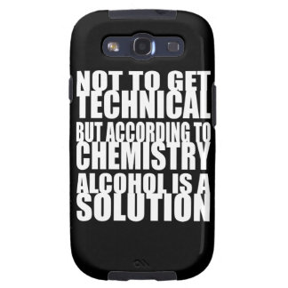 According to Chemistry Alcohol is a Solution Samsung Galaxy SIII Case