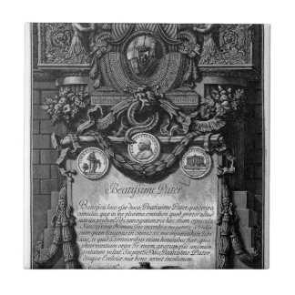 According to Cover Up the papal coat of arms Tile