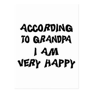 According To Grandpa I Am Happy Grandma Postcard