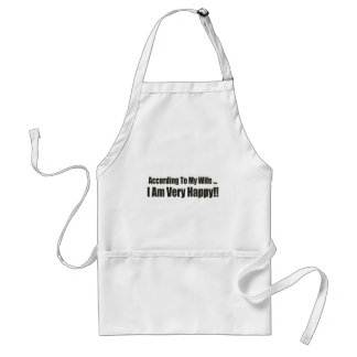 According To My Wife Funny T-shirts Gifts Aprons