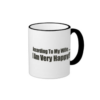 According To My Wife Funny T-shirts Gifts Mug