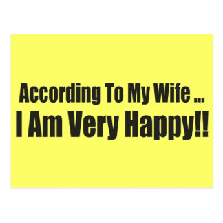 According To My Wife Funny T-shirts Gifts Post Card