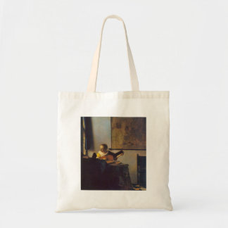 According to the player by Johannes Vermeer Canvas Bag