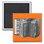 Accordion 2 Inch Square Magnet