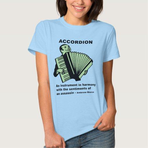 Accordion: Ambrose Bierce quote Shirt