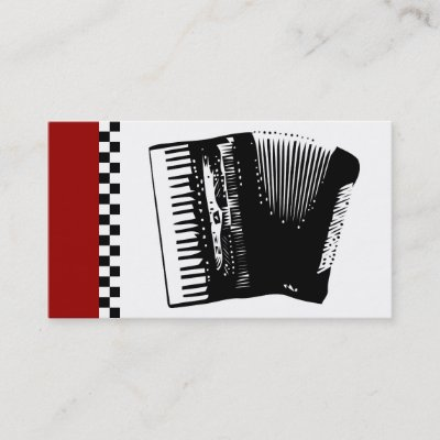 Black And White Accordion Music Business Cards Zazzle