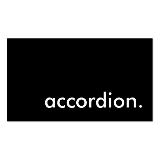 accordion business card template zazzle. Black Bedroom Furniture Sets. Home Design Ideas