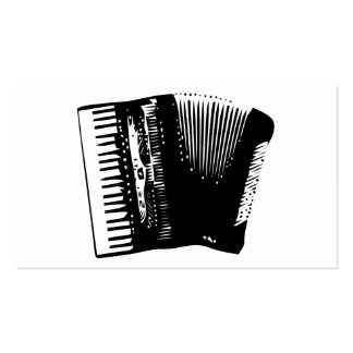 accordion. business card template