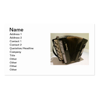 Accordion business cards