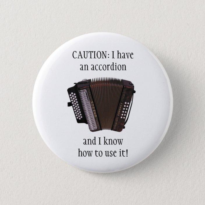 Accordion Pin Badge