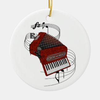 Accordion Ceramic Ornament