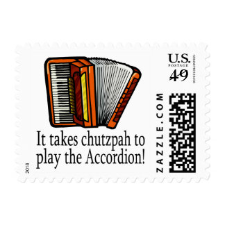 Accordion-chutzpah Postage Stamps