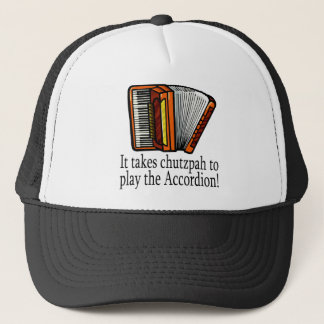 Accordion-chutzpah Trucker Hat
