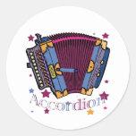 Accordion Classic Round Sticker