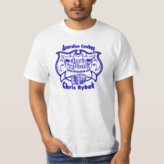 Accordion Cowboy Logo - Blue T-Shirt