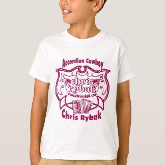 Accordion Cowboy Logo - FUCHSIA T-Shirt