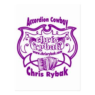 Accordion Cowboy Logo - Violet Postcard