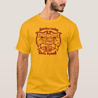 Accordion Cowboy Logo - Violet T-Shirt